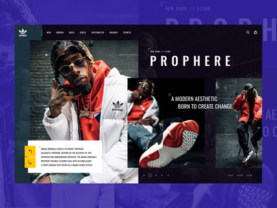 Adidas PROPHERE  - Concept Design shop ux ui sport nike modern minimal design concept