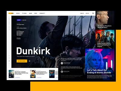 TV Platform -  Concept Design website uxdesign entertainment tv modern netflix imdb movie design concept ux ui