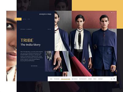 T H E T R I B E website uxdesign ux ui fashion modern layout grid design concept