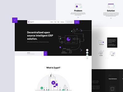 ZygotERP branding interface landing design landing page illustration logo ux ui web design