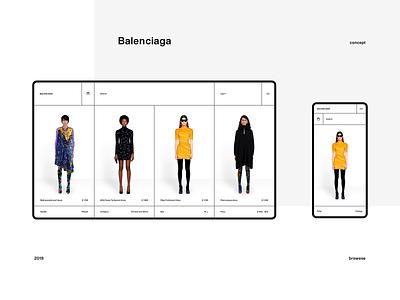 Balenciaga Redesign Concept commerce online store commerce store white black minimal balenciaga fashion ux app ui web design concept