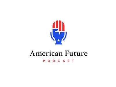 American Future Podcast app web ux ui vector typography icon illustration design branding logo