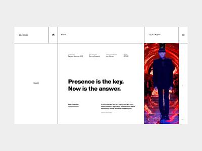 Balenciaga Concept simple fashion web concept motion interface ux ui design