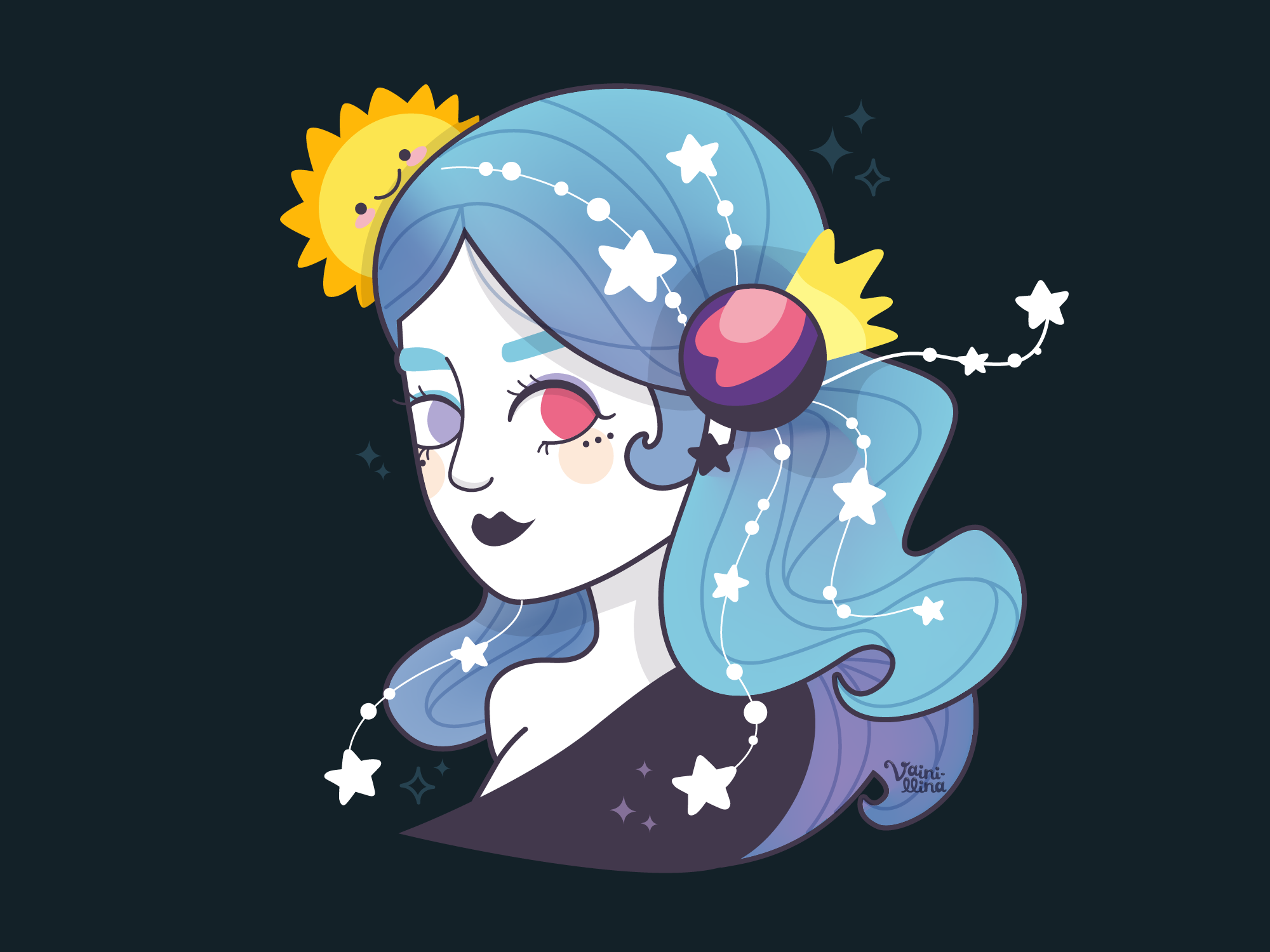 Draw this in your own style challenge by Vainillina on Dribbble