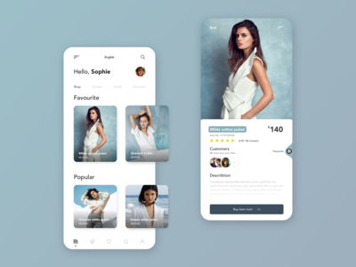 Fashion Shop App Design