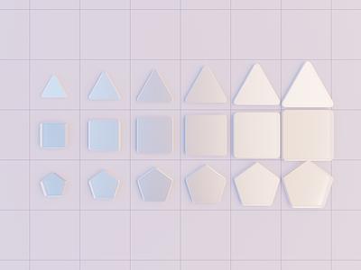 New Symbols abstract 3d primitives b3d blender modern portfolio