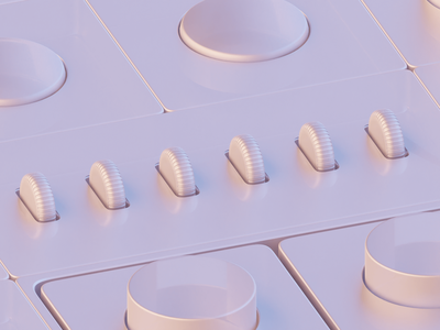 New Materials on Dark & Light Modes cycles x blender cycles op-1 apple watch icons ui 3d modeling 3d isometric b3d blender portfolio