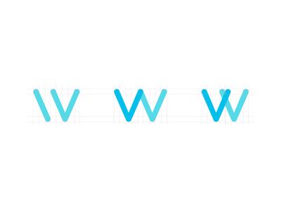 W w letter monogram branding