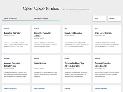Glenborn Job Listing json sketch jobs theme modular