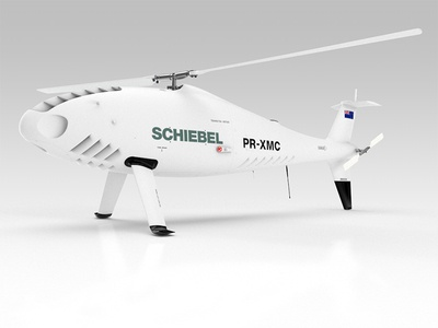 Schiebel Camcopter S-100 Unmanned Air System UAS  3d product 3d product render 3d render