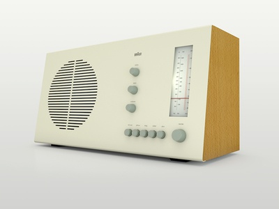 3D render of a Braun RT 20 Radio by Dieter Rams 3d product 3d product render 3d render