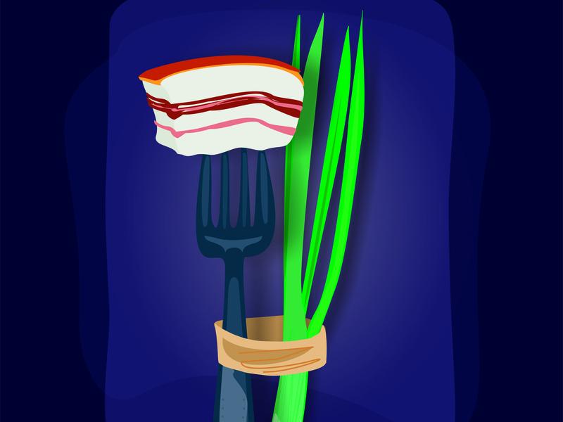 Bacon иллюстрация дизайн