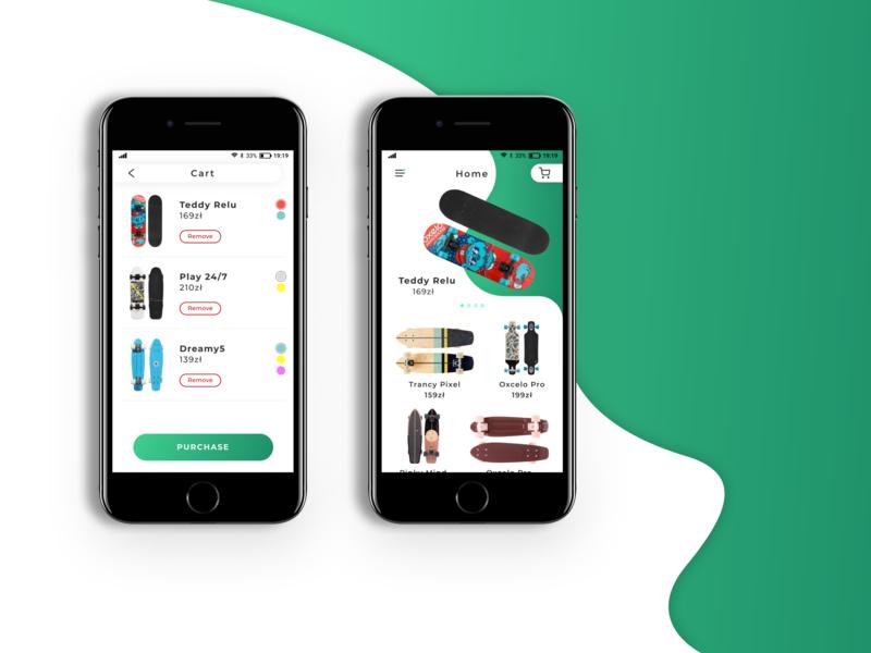 Skateboard Shop mobile app design mobile mobile ui mobile app app design uidesign trends trend minimal ux ui app design