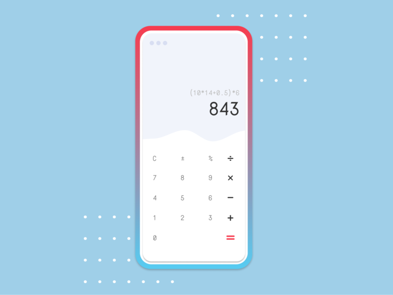 DailyUI :: Calculator illustration branding ux mobile app dailyui ui application design app android