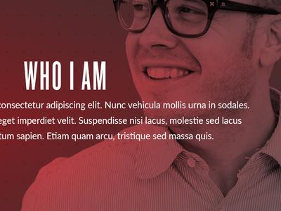 About Me Section site portfolio