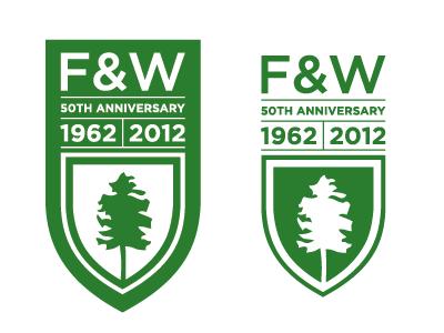 F&W 50th Anniversary mark