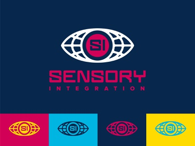 Sensory Integration Branding typogaphy wordmark futuristic branding and identity brand design brand identity all seeing eye logo designer logo design typography branding logodesign vector logo