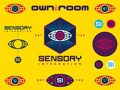 Sensory Integration Branding security logo audio branding design flash sheet logomark logo all seeing eye typography vector branding and identity branding