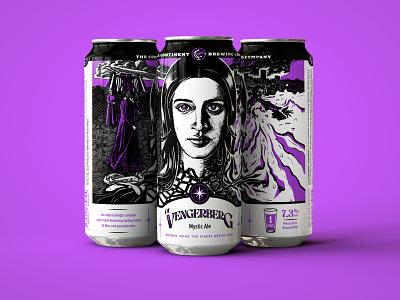 The Witcher Beer Label : Of Vengerberg branding typography beer branding illustration digital beer label design beer can design the witcher beer label beer art branding design illustration