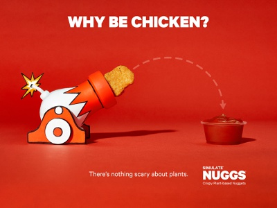 NUGGS Launch Campaign campaign chicken advertising design vegetarian nuggets food branding photography advertising