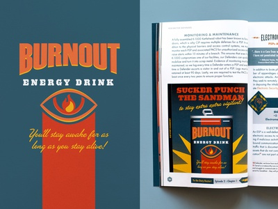 Burnout Energy Drink Logo and Ad
