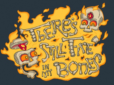 Fire In My Bones Illustration