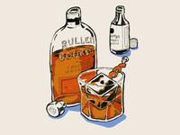 Old fashioned cocktail illustration mindprizm