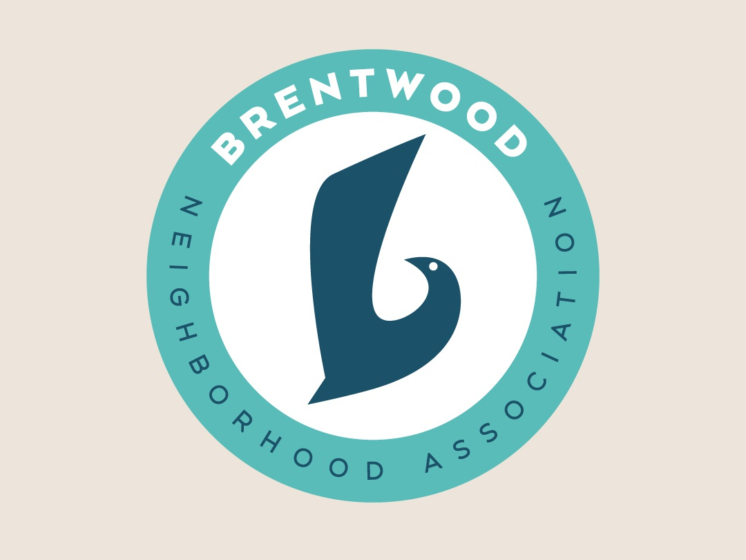 Brentwood Neighborhood Logo logo design mid-century modern bird branding and identity identity branding agency graphic design typography branding design branding logo