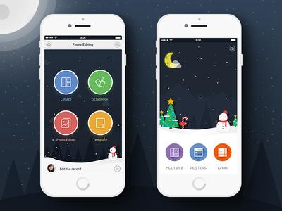 Photo Editing app christmas concept christmas app