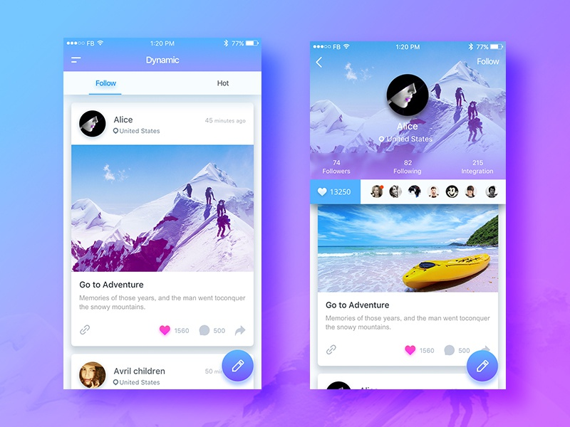 Plaza Ui app ui photo picture share contact social ps sketch ios