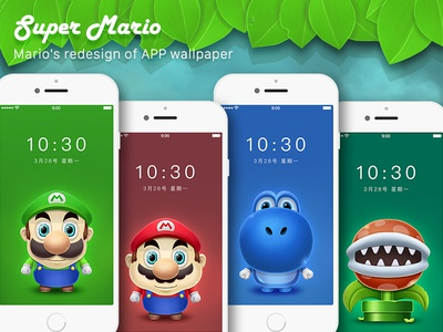 Super Mary wallpaper mario game painted hand ps ios app
