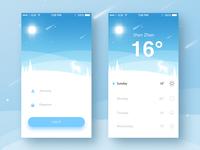 Weather Login App