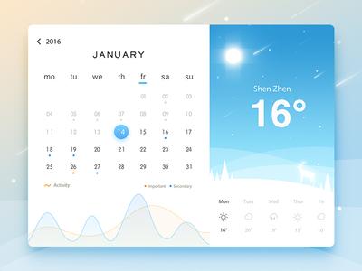 Web Weather weather timeline seasons rainy interface web illustration ps ui