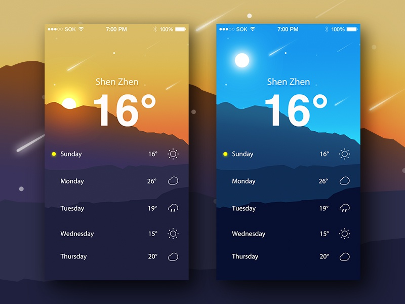 Weather  App weather sketch ps log ios interface in illustration app