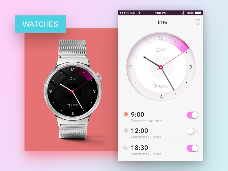 Watch And Interface app sketch watch ps app interface ios