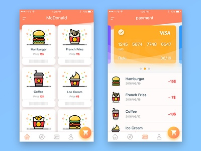 McDonald's order to pay app 02 room order mcdonalds ios food delicious app
