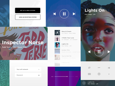 Bose Style Tile design language app ios bose controls style tile music player