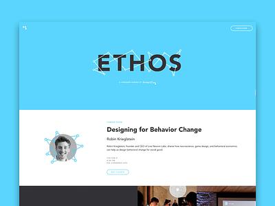 New Ethos Microsite landing page branding web ethos ui microsite web design website