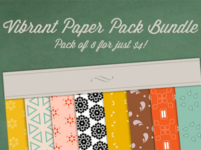 Vibrant pattern digital papers