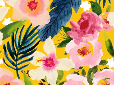No Winter Lasts Forever No Spring Skips It s Turn social share summer spring bloom beight modern bohemian boho colorful vibrant garden forest blossom nature floral botanical seamless pattern watercolor