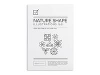 Geometric Nature Shape Illustrations $16.00
