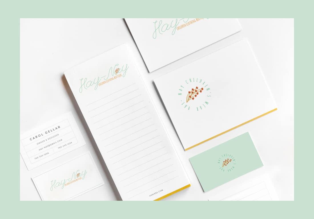 Branding & Print Design for Hay-Nay business card typography logo design identity digital logo illustration branding
