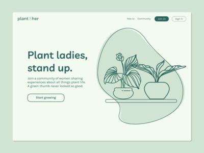 landing page: plant[h]er