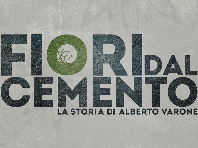 Fiori Dal cemento Logo's fioridalcemento fiori flower cemento concrete grunge green blue white mafia camorra italy