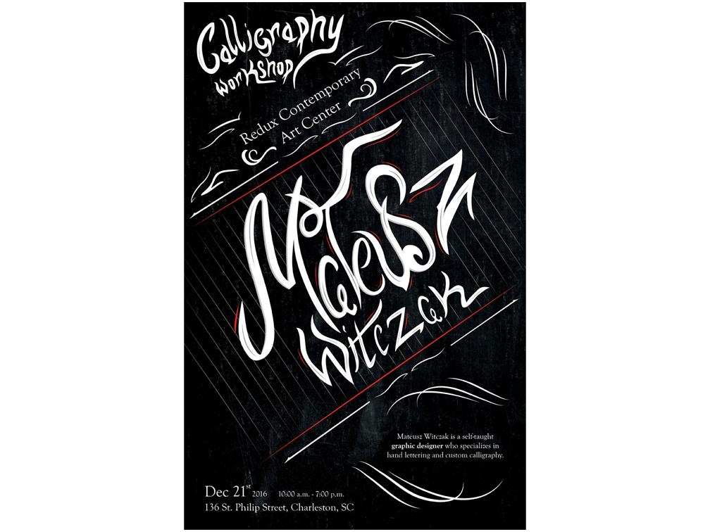 Calligraphy Workshop Poster by Brandon Raubenstine on Dribbble