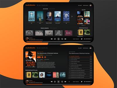 AudioBook player vector ui audiobook