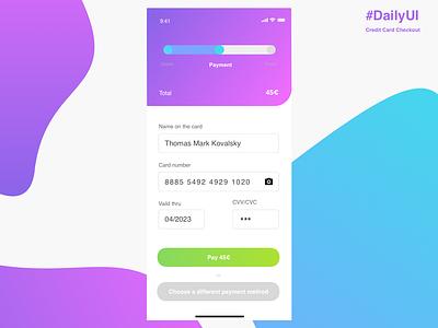 Credit Card Checkout sketch dailyui design