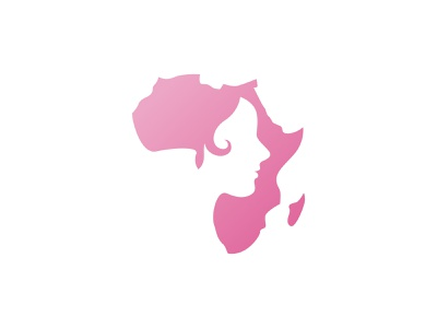 African Woman Logo makeup model lady hair female beautiful girl face illustration ethnic head fashion beauty