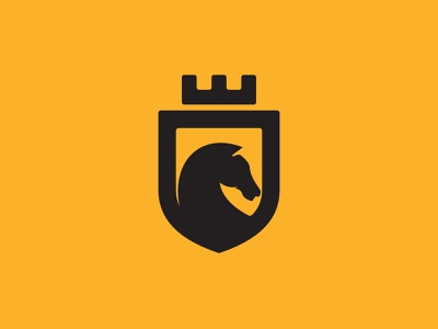 Horse Shield Badge Logo mammal farm animal horse racing branding horses masculine black shield badge horse