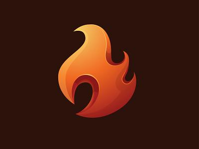Gradient Fire Logo branding design logo abstract inspiration gradient modern red orange fire